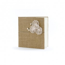 Livro de Assinaturas com Flores de Encaixe