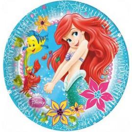 8 Platos de La Sirenita Ariel