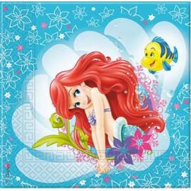 20 Servilletas de La Sirenita Ariel