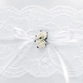 Almofada de Anel Branco com Encaixa
