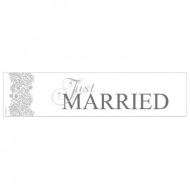 Registro Just Married Prateado