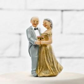 Figura de Noivos para Casamento de Ouro