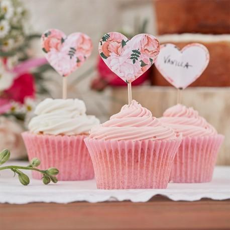 10 Topos para Cupcake de Flores Boho