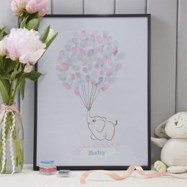 Árbol de Huellas para Baby Shower