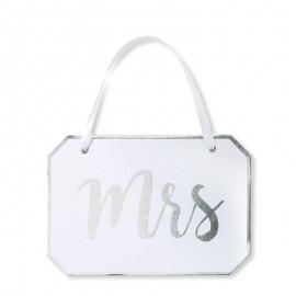 Cartel Mrs para Bodas Elegante