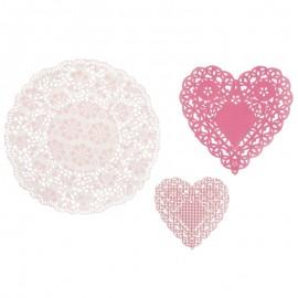 30 Blondas en Color Rosa con Diseños Diferentes