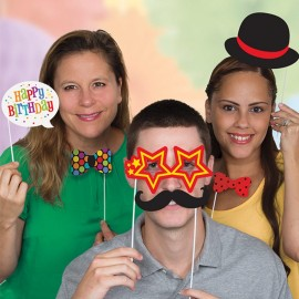 10 Acessórios para Photo Booth Happy Birthday