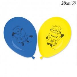 8 Balões de Minions 28 cm