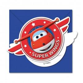 6 Invitaciones Super Wings