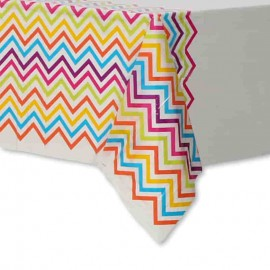 Toalha de Mesa de Plástico Chevron Multicolor 137 x 213 cm