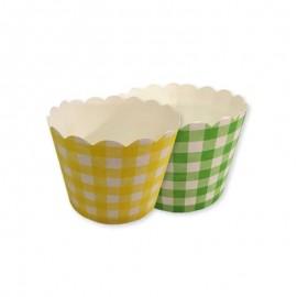 12 Envoltorios para Cupcake de Cuadros