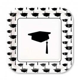 10 Pratos de Graduação 18 cm