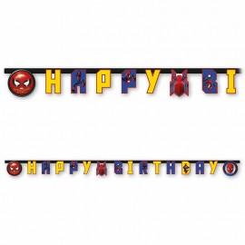 Grinalda Spiderman Home Coming Happy Birthday