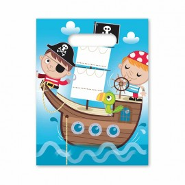 6 Bolsas Pirata Infantil