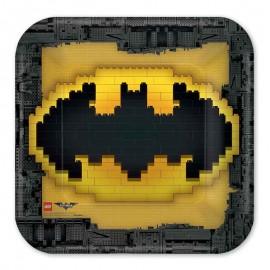 8 Platos Lego Batman 23 cm
