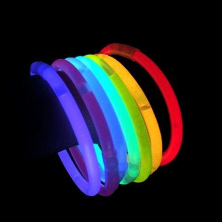 Comprar pulseras fluorescentes baratas Unicolor (100 uds)