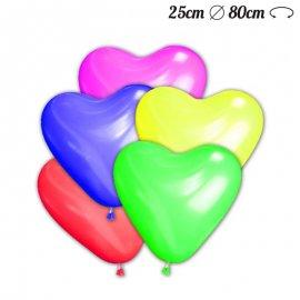 Balões Coração de Látex 25 cm