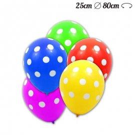 Balões de Bolinhas de Látex 25 cm