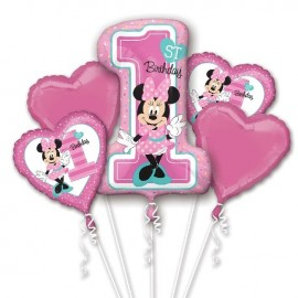 Bouquet de Globos Minnie 1st Birthday