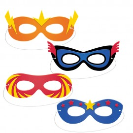 4 Máscaras de Foam Superhero