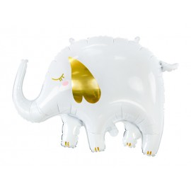 Globo Elefante Blanco Foil 61 x 46 cm