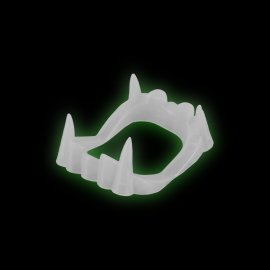 Dientes Drácula Fluorescentes