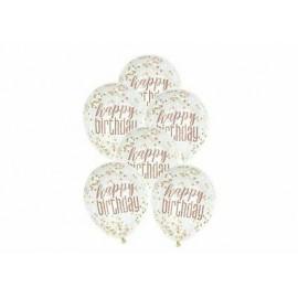 Globos Happy Birthday con Confeti