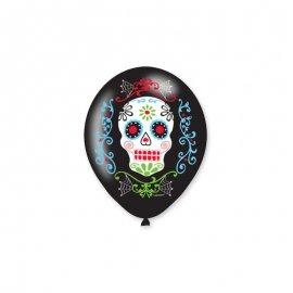 6 Balões Látex Día dos Mortos