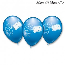Balões Menino Matemáticas Redondos 30 cm