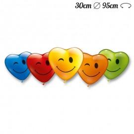 Balões Coração Piscadela 30 cm