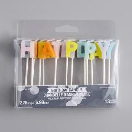 13 Velas HAPPY BIRTHDAY PASTELS