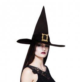 Chapéu de Bico Preto com Enfeite