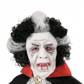 Máscara con Peluca de Vampiro