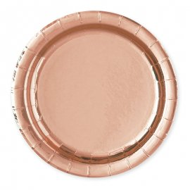 8 Pratos Rosa Gold 23 cm