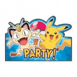 8 Invitaciones Pokémon
