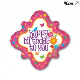 Globo Happy Birthday Forma Espejo Foil 46 cm