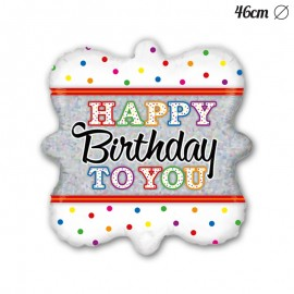 Balão Happy Birthday To You Foil Quadrado 46 cm