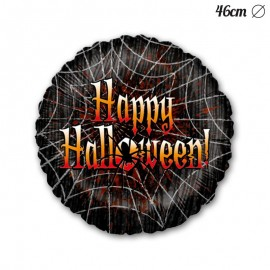 Globo Happy Halloween Telarañas Foil 46 cm