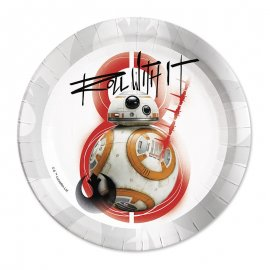 8 Platos BB-8 Star Wars 23 cm