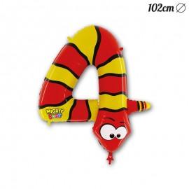 Balão Número 4 Serpente Foil 102 cm