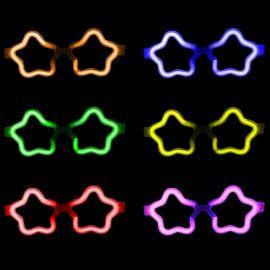 Gafas Neón Luminosas Estrella Granel (50 uds)