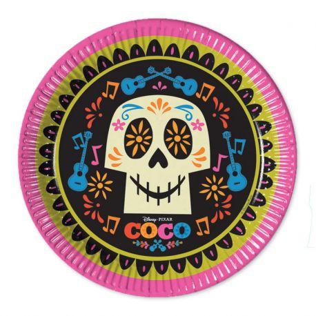 8 Pratos Coco 23 cm