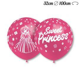 Globos Sweet Princess Redondos 32 cm