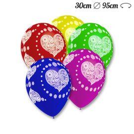 Balões Corações Hippy Redondos 30 cm