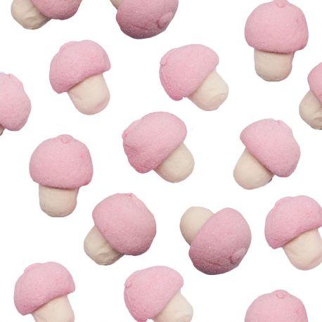 Marshmallows Cogumelos Rosas