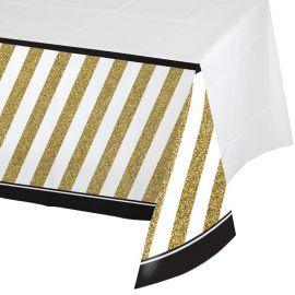 Toalha de Mesa Negro y Ouro 274 x 137 cm