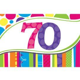 8 Invitaciones 70 Rayas y Puntos