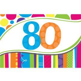 8 Invitaciones 80 Rayas y Puntos