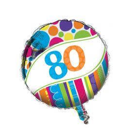 Globo 80 Rayas y Puntos 45 cm