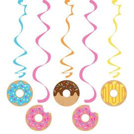 5 Decoraciones Colgantes Donut Time